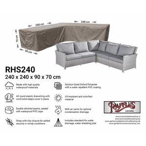 Raffles Covers Abdeckung Gartensofa L-Form 240 x 240 x 90 H: 70 cm
