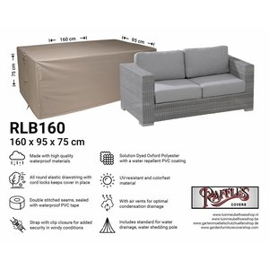 Raffles Covers Wetterschutz für Lounge Sofa 160 x 95 H: 75 cm