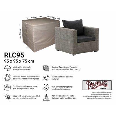 Raffles Covers Wetterschutz für Rattan Lounge Sessel 95 x 95 H: 75 cm