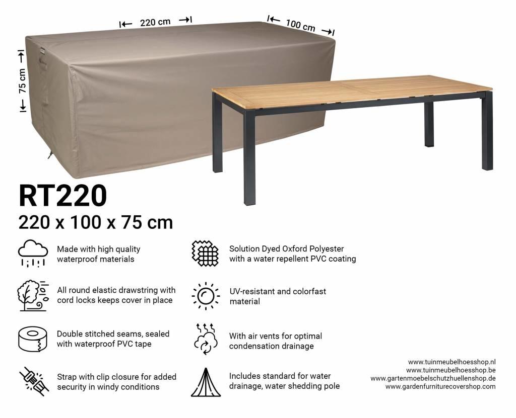 Schutzhülle Gartentisch 220x100.Schutzhülle Für Rechteckige Gartentisch 220 X 100