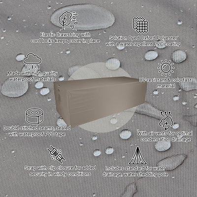 Raffles Covers Schutzhülle für rechteckige Gartentisch 240 x 100 H: 75 cm