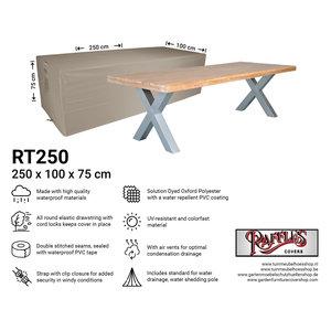 Raffles Covers Abdeckung für rechteckige Gartentisch 250 x 100 H: 75 cm