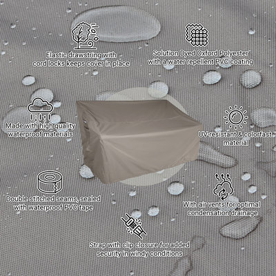 Raffles Covers Abdeckung für Gartenbank 155 x 65 H: 95/65 cm