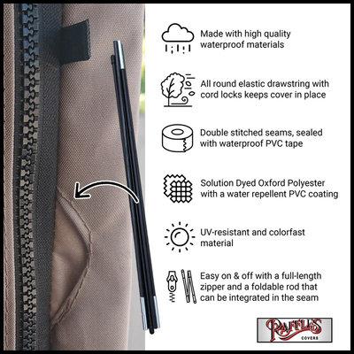 Raffles Covers Sonnenschirm Abdeckung mit Stab H: 265 cm