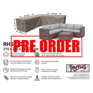 Raffles Covers !!PRE-ORDER!! Loungemöbel Abdeckschutz L-Form 210 x 210 H: 70 cm