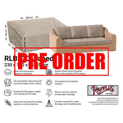 Raffles Covers !!PRE-ORDER - ABWEICHENDE LIEFERZEIT!! Wetterschutz für Terrasse Sofa 230 x 100 H: 85/65 cm