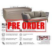 Raffles Covers !!PRE-ORDER - ABWEICHENDE LIEFERZEIT!! Sofa Schutzplane Gartenmöbel 200 x 100 H: 75 cm