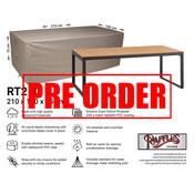 Raffles Covers !!PRE-ORDER - ABWEICHENDE LIEFERZEIT!! Abdeckplane für Gartentische 210 x 100 H: 75 cm