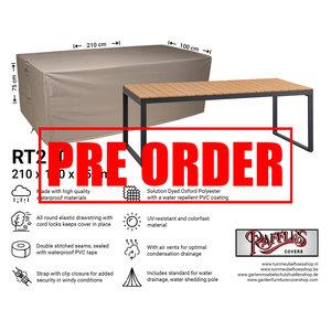 Raffles Covers !!PRE-ORDER!! Abdeckplane für Gartentische 210 x 100 H: 75 cm