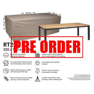 Raffles Covers !!PRE-ORDER - ABWEICHENDE LIEFERZEIT!! Schutzhülle für rechteckige Gartentisch 220 x 100 H: 75 cm