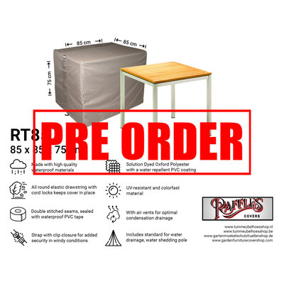 Raffles Covers !!PRE-ORDER - ABWEICHENDE LIEFERZEIT!! Abdeckplane für quadratische Gartentisch 85 x 85 H: 75 cm