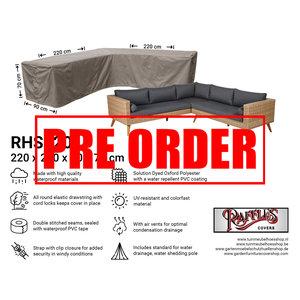 Raffles Covers !!PRE-ORDER!! Schutzhülle für L-Förmiges Gartensofa 220 x 220 x 90 H: 70 cm