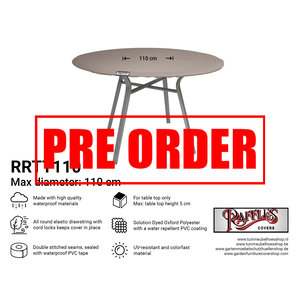 Raffles Covers !!PRE-ORDER!! Abdeckplane für eine runde Tischplatte Ø 110 cm