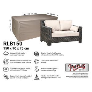 Raffles Covers Hülle für Rattan Gartensofa 150 x 90 H: 75 cm