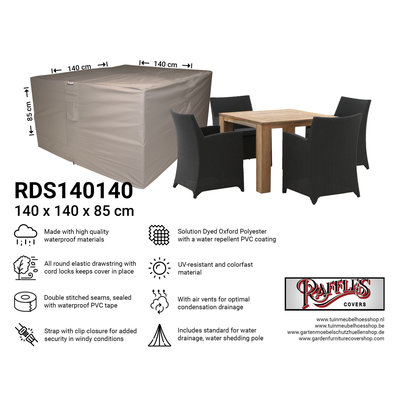 Raffles Covers Schutzhaube für kleine Sitzgruppe 140 x 140 H: 85 cm