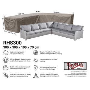 Raffles Covers Loungemöbel L-Form Wetterhaube 300 x 300 x 100 H: 70 cm