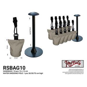 Raffles Covers Regenwasserablaufsäule mit 10 Sandsäcken