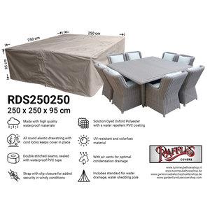 Raffles Covers Quadratische Lougeset-Abdeckung, 250 x 250 H: 95 cm
