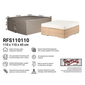 Raffles Covers Abdeckung für niedrigen Gartentisch, 110 x 110 H: 45 cm