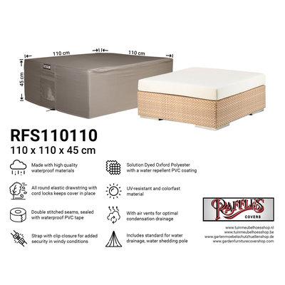 Raffles Covers Abdeckung für niedrigen Gartentisch 110 x 110 H: 45 cm
