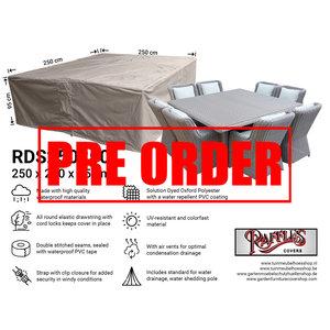 Raffles Covers !!PRE-ORDER!! Quadratische Lougeset-Abdeckung, 250 x 250 H: 95 cm