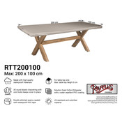 Raffles Covers Schutzhülle für Tischplatte 200 x 100 cm