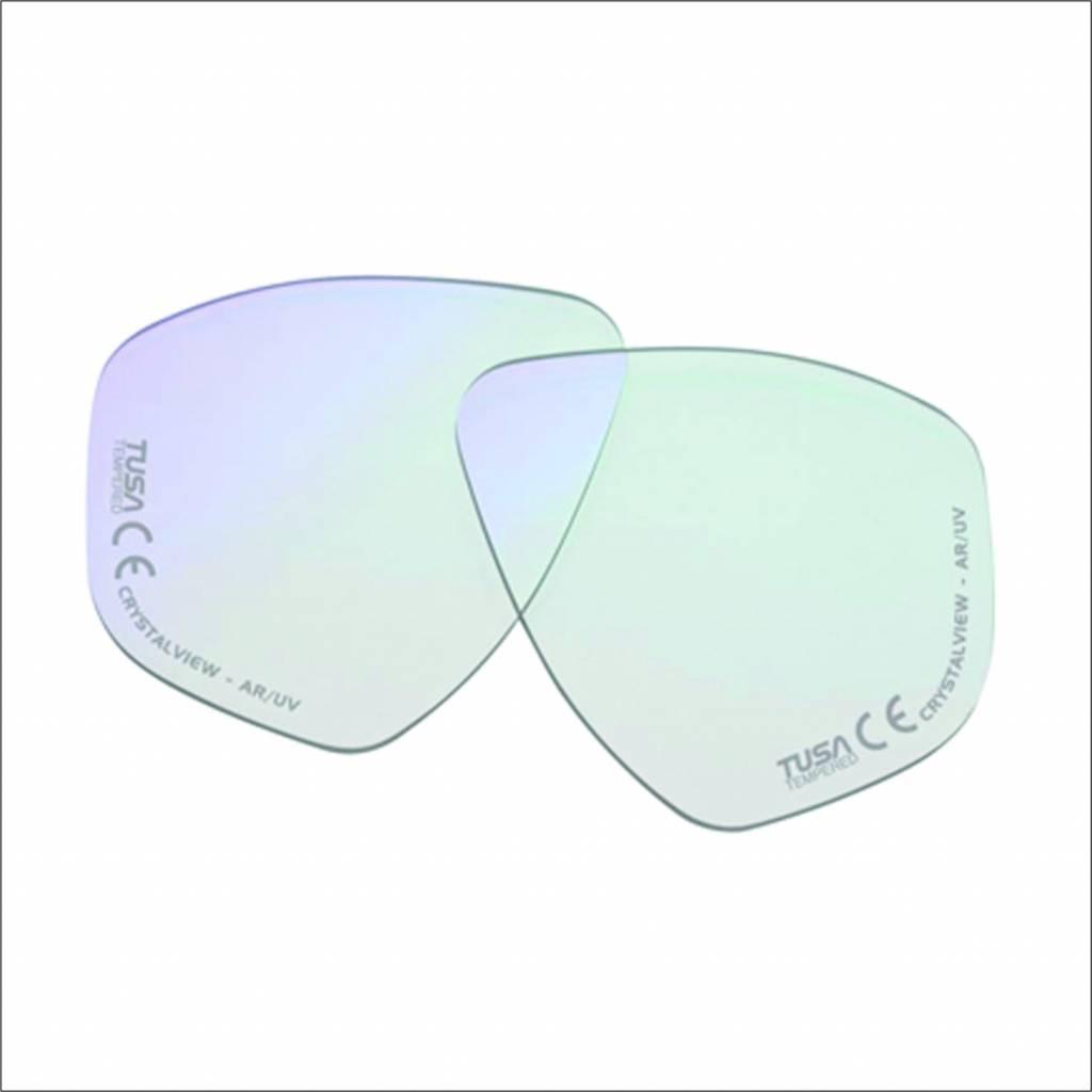 Optisch glas links voor duikbril op sterkte