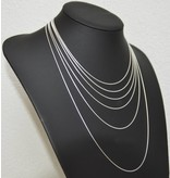 Halsketten aus 925er Silber schmal