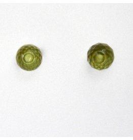 Ohrstecker Peridot 5 mm 925er Silber