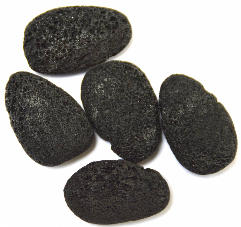 gebohrter Trommelstein aus Lava