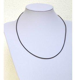 Lederband schwarz schmal mit Verschluss