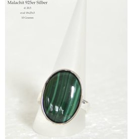 Silberring Malachit ab Größe 18,5
