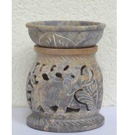 Aromalampe Elefant aus Speckstein