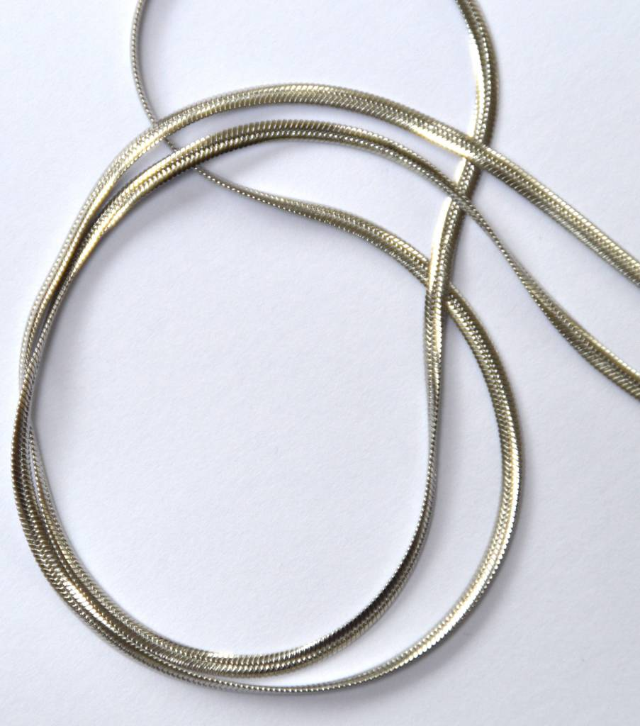 Schlangenkette schmal aus Edelstahl ca. 50 cm