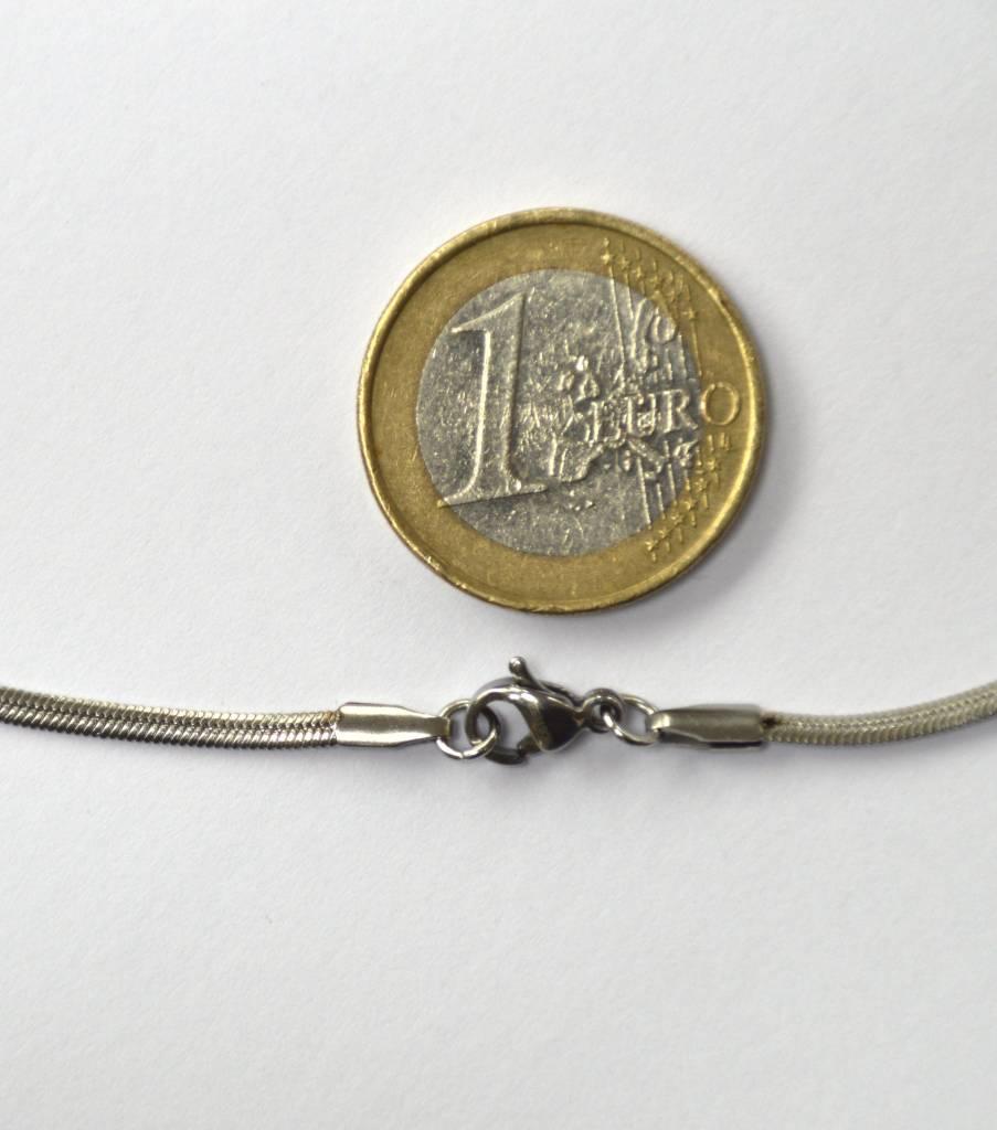 Schlangenkette schmal aus Edelstahl ca. 60 cm
