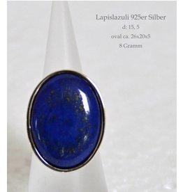 Lapislazuli Silberring bis Größe 18