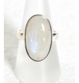 Silberring Mondstein bis Größe 18
