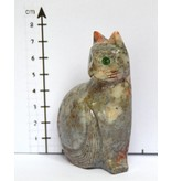 Katze Speckstein Peru ca. 7 cm