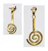 Donuthalter Spirale nickelfrei vergoldet