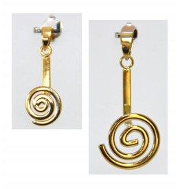 Donuthalter Spirale vergoldet