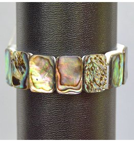 Abalone Muschel Armband Rechteck