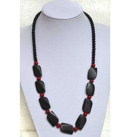 Lava und Koralle Halskette
