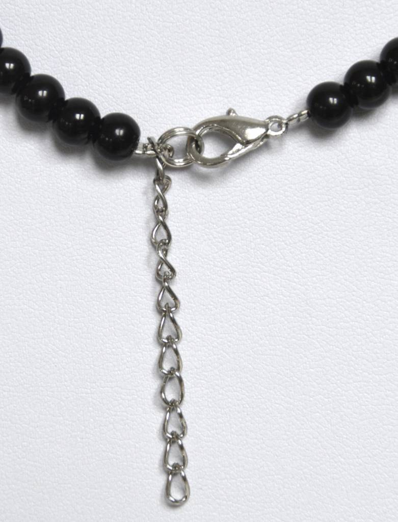 Lava und Koralle Halskette ca. 64 cm