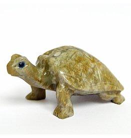 Landschildkröte aus Speckstein ca. 5 cm
