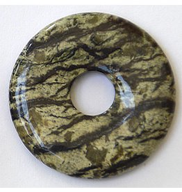 Jaspis grün Donut 30 mm