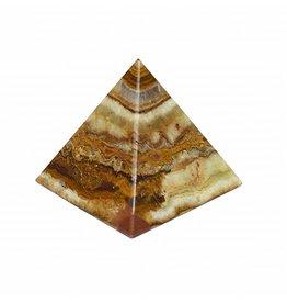 Pyramide aus Onyx Marmor ca. 7,5 cm