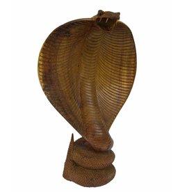 25 cm Cobra aus Suar-Holz
