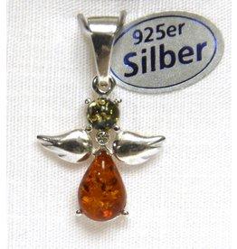Bernstein Engel 925er Silber