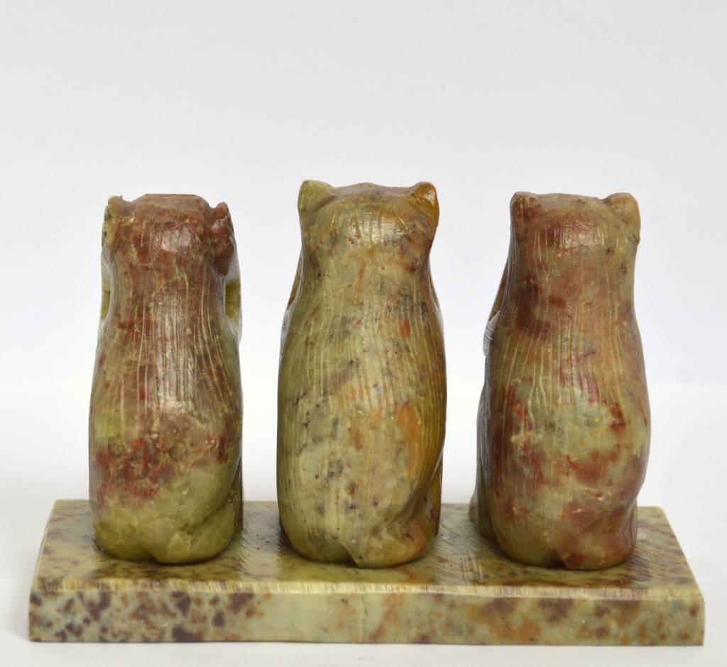 Affen Trio Speckstein Indien ca. 5 cm