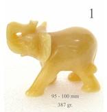 Elefant aus Aragonit groß ca. 10 cm